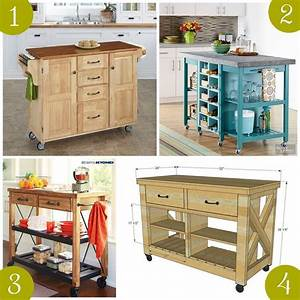 Make A Roll Away Kitchen Island Hgtv With Diy Portable
