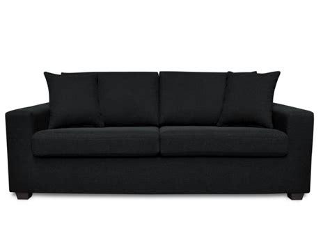 canapé noir canapé tissu noir achat en ligne