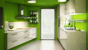 decoration cuisine couleur vert With deco cuisine couleur