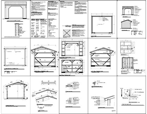 10x14 shed plans free how to build diy by