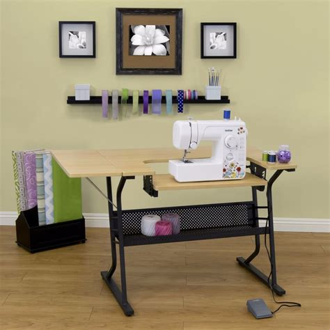 sewing machine desk ideas adjustable sewing machine craft table stand folding shelf