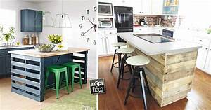 Meuble De Cuisine En Palette : fabriquer un ilot de cuisine en palettes voici 15 id es pour vous inspirer ~ Dode.kayakingforconservation.com Idées de Décoration