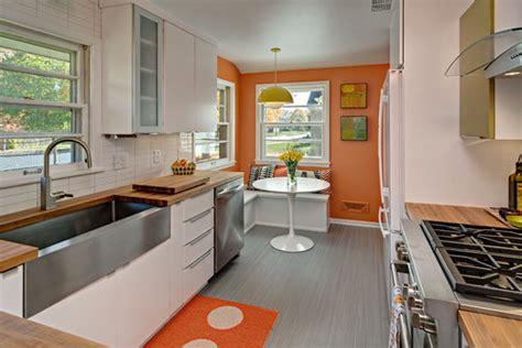 ways    midcentury modern kitchen layout