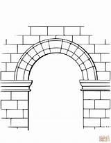 Colorare Disegni Arco Disegno Torbogen Ausmalbild Arch Coloring Ausmalbilder Immagini Sistema Zum Disegnare Stampare Degli sketch template