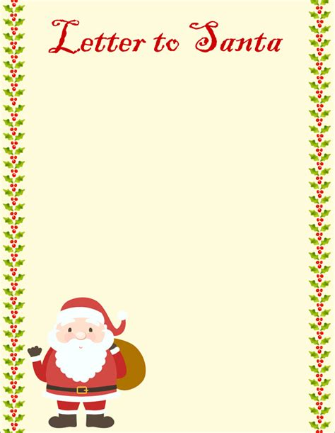 letter  santa templates  kids  write wishes