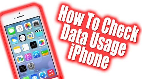 how to check data on iphone how to check iphone data usage ios 7