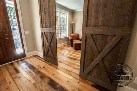 Fireplace Accent Wall Ideas by Olivo House Reclaimed Hardwood Floors Farmhouse