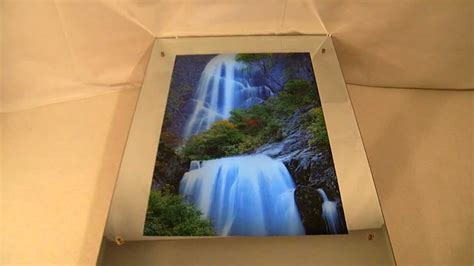 glass waterfall wall lighted moving motion waterfall mirror with nature sounds