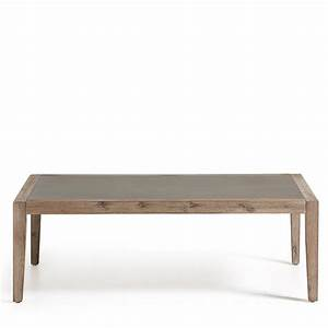 Table Basse Bois Avec Plateau Minral Vetter By Drawerfr