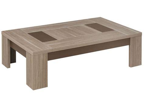 ensemble canapé 3 2 1 table basse rectangulaire atlanta coloris chêne fusain