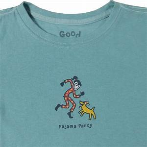 Life is Good Long Sleeve Pajama Party Tee for Girls