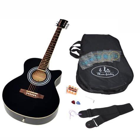 achat ts ideen guitare folk acoustique 4 4 avec partie en palissandre housse rembourr 233 e