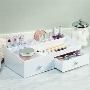 Boite De Rangement Maquillage : bo te de rangement blanche pour maquillage avec tiroirs et ~ Dailycaller-alerts.com Idées de Décoration