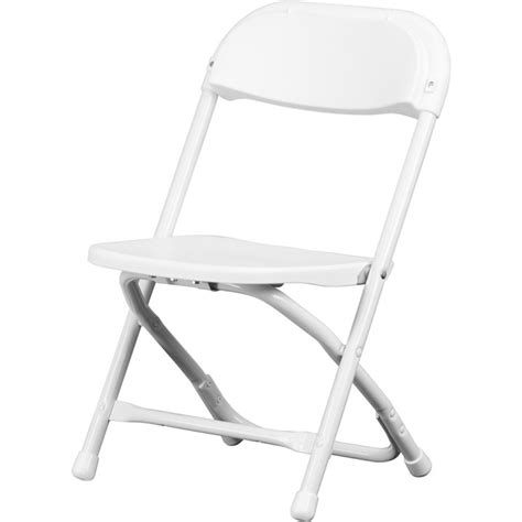 child size chair plastic folding chair in white