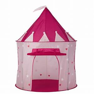 Tente Enfant Exterieur : tente enfant ch teau en tissu rose 100 x 130 cm princesse ~ Farleysfitness.com Idées de Décoration
