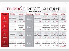 Turbo Fire Workout Calendar » Calendar Template 2018
