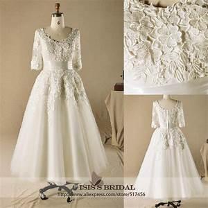 2014 New Hot Sale Plus Size Tulle Wedding Dress Tea Length ...
