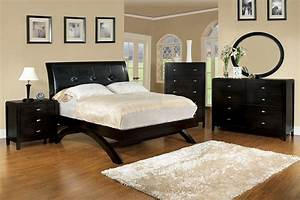 King, Delano, Arched, Legs, Bed, Espresso, Padded, Leatheer, Hb, Bed