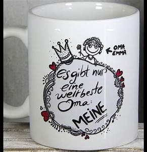 Geschenke Für Oma Basteln : geschenkideen f r weltbeste oma mit pers nlichem oma namenszug von personalisierte tassen ~ One.caynefoto.club Haus und Dekorationen