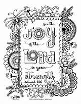 Joy Coloring Lord Skillshare sketch template