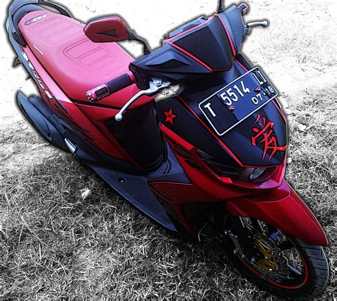 Modifikasi Mio J Merah by Modifikasi Mio Soul Gt Merah Modifikasi Motor Kawasaki