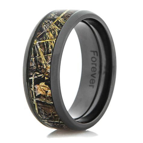 men s black camo wedding ring titanium buzz
