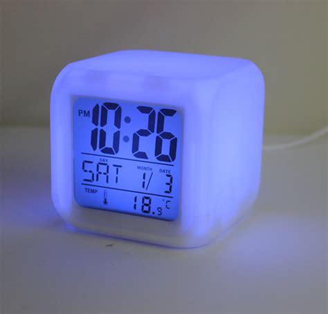 lighted clocks for sale sale led alarm clock color change digital alarm clock