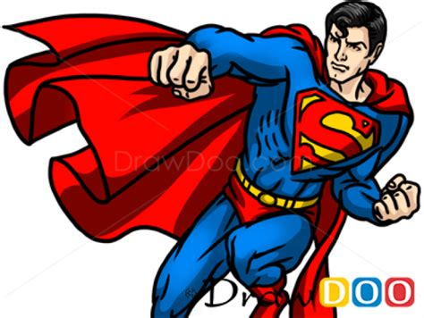draw superman cartoon characters