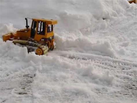 scale rc bruder cat  bulldozer   snow youtube