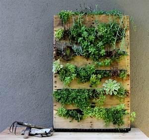 Pflanzenwand Selber Machen : wandbegr nung aus paletten coole diy projekte f r ihr ~ Whattoseeinmadrid.com Haus und Dekorationen