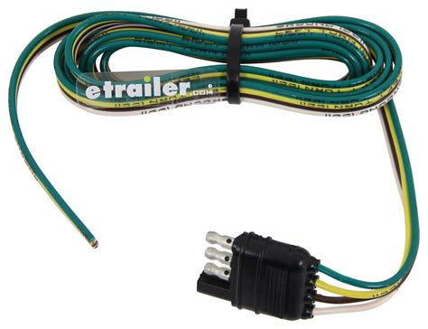 Trailer Wiring Harness by Wiring Harness With 4 Pole Flat Trailer Connector