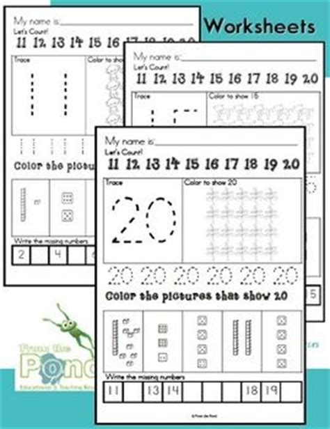number worksheets writing and number concepts 11 to 20