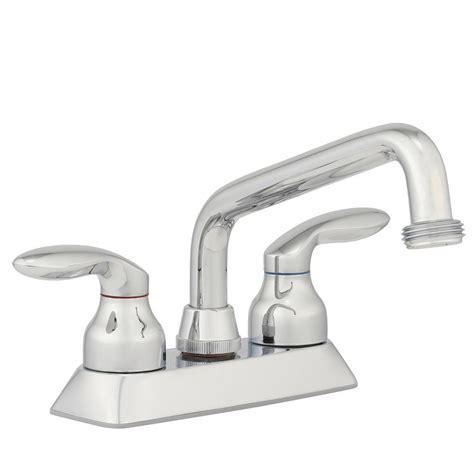 KOHLER Coralais 4 in. 2 Handle Low Arc Utility Sink Faucet