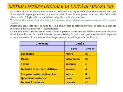 Candela Unità Di Misura by Grandezze E Unit 192 Di Misura Ppt Scaricare