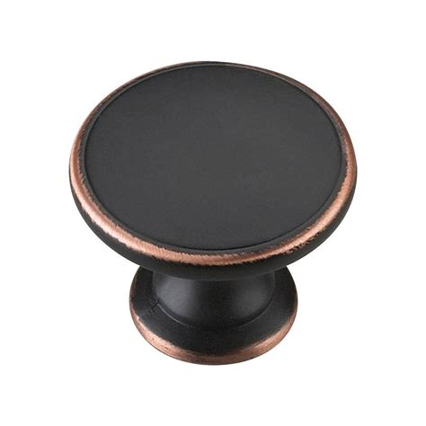 Dresser Hardware Knobs Home Depot by Richelieu Hardware 1 3 4 In Brushed Rubbed Bronze