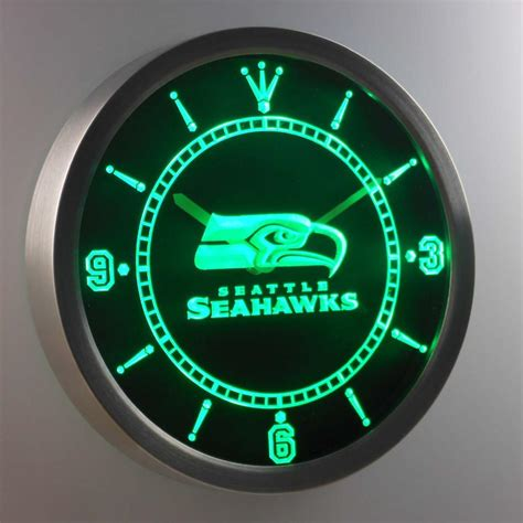 seattle seahawks led neon wall clock safespecial