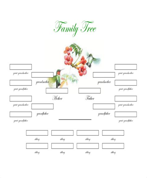 family tree downloadable template family tree template 8 free word pdf document downloads free premium templates