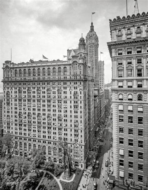 New York Circa 1908 Broadway And Trinity Building With