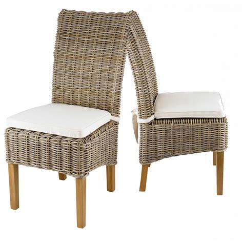 chaise en kubu tresse galette ecru   zago store