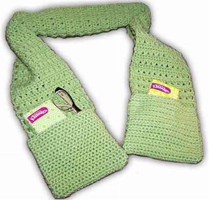 Pockets Crochet Scarf Pattern Stitch Easy Patterns