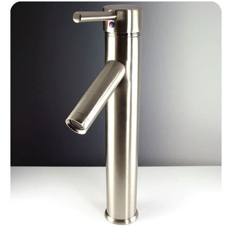 brushed nickel bathroom faucets single fresca soana single vessel mount bathroom vanity