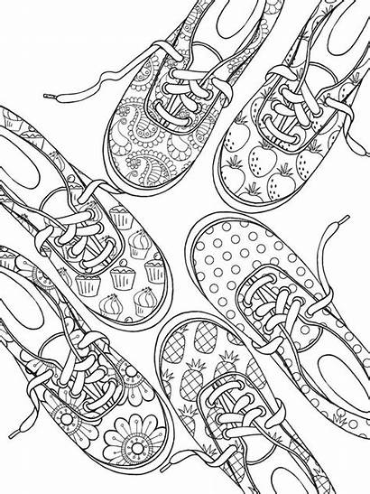 Coloring Pages Adult Mandala Sneaker Dover Shoes