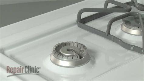 range burner head replacement ge gas range repair part wbk youtube
