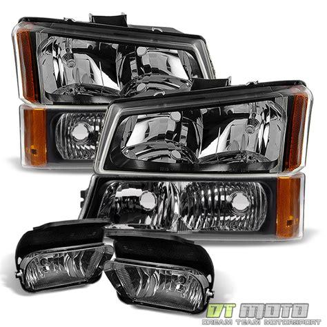 6pc 2003 2006 chevy silverado headlights bumper signal