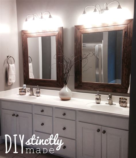 diy easy framed mirrors diystinctly