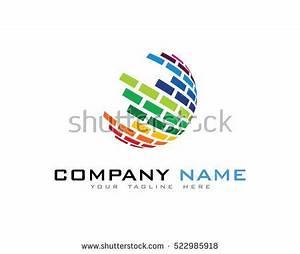 Digital Color World Logo Design Template Stock Vector ...