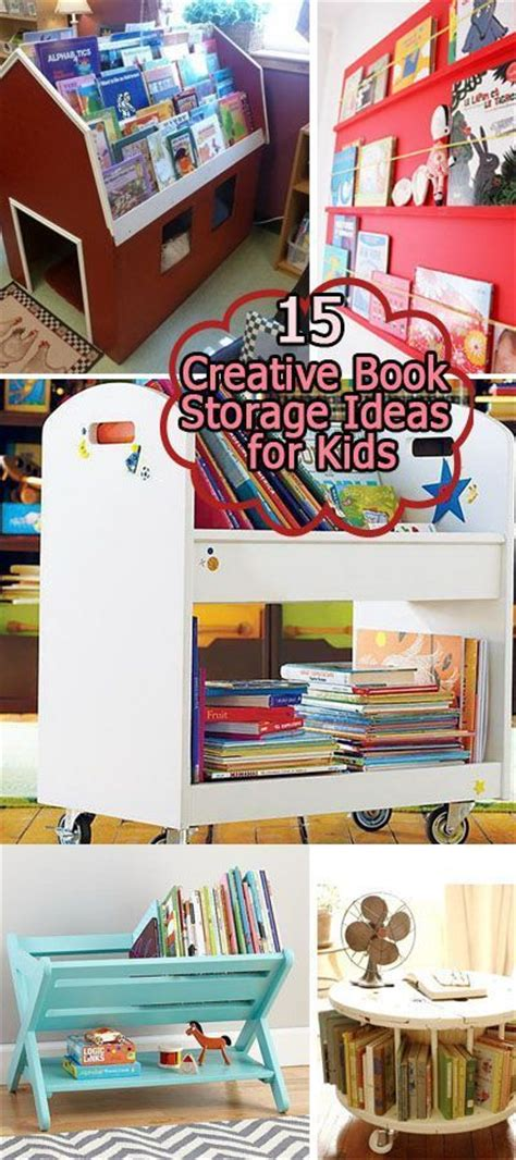 15 Creative Book Storage Ideas For Kids  Book, Creative