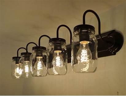 Lighting Jar Mason Fixture Bathroom Vanity Fixtures