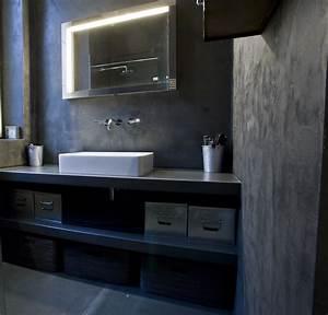 Beton Ciré Sol Salle De Bain : salle de bains en ductal et b ton cir taloch ~ Preciouscoupons.com Idées de Décoration