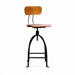 Tabouret De Bar Industriel : chaise de bar r glable industriel m tal jb pennel by drawer ~ Nature-et-papiers.com Idées de Décoration